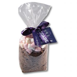 bag of chocolate flakes and marshmallows