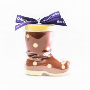 chocolate filled boot shape