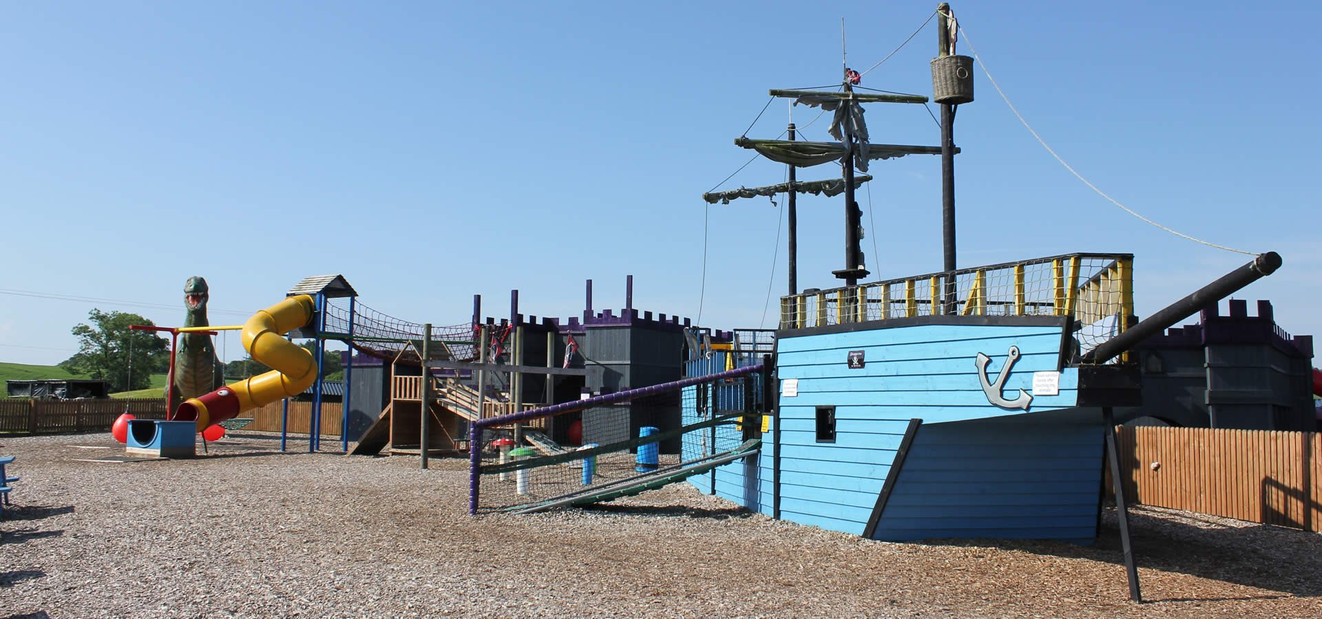 Outdoor play area at Twynholm, Dumfries & Galloway