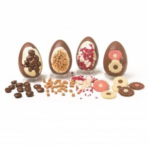 small chocolate easter egg with decoration