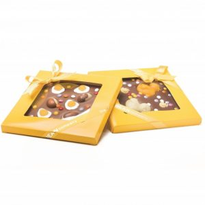 Boxed chocolate easter slabs