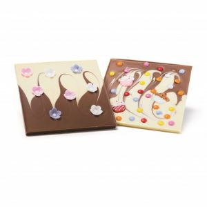 spring chocolate slabs