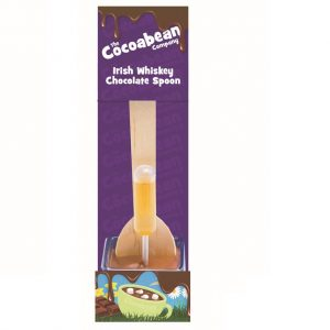 milk choc spoon stirrer with irish whiskey
