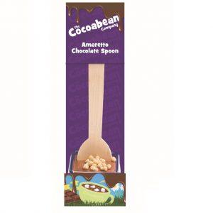 milk choc spoon stirrer with amaretto