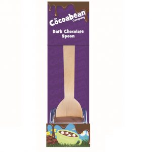 dark chocolate spoon stirrer