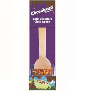 dark chocolate spoon stirrer with chilli