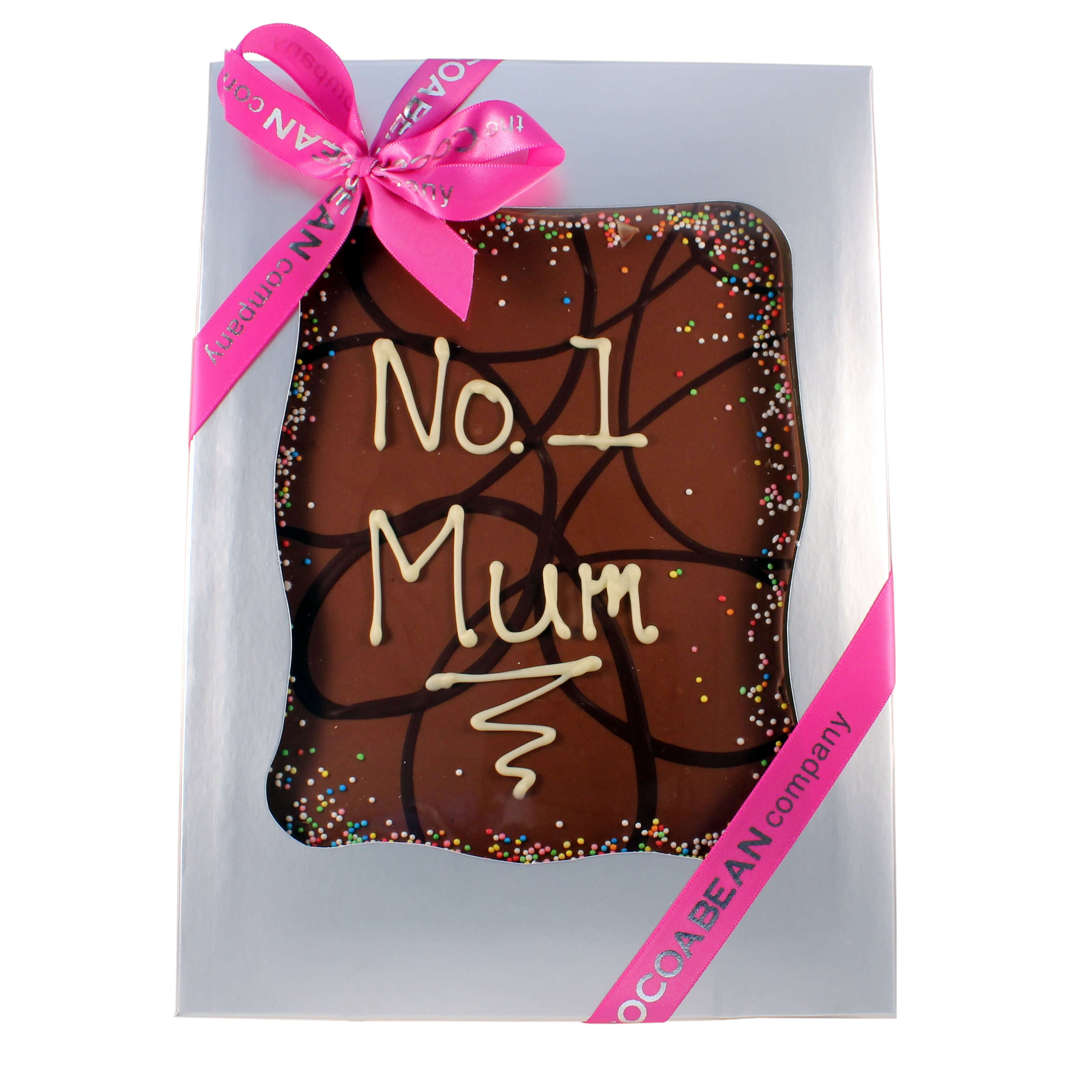 chocolate slab with message