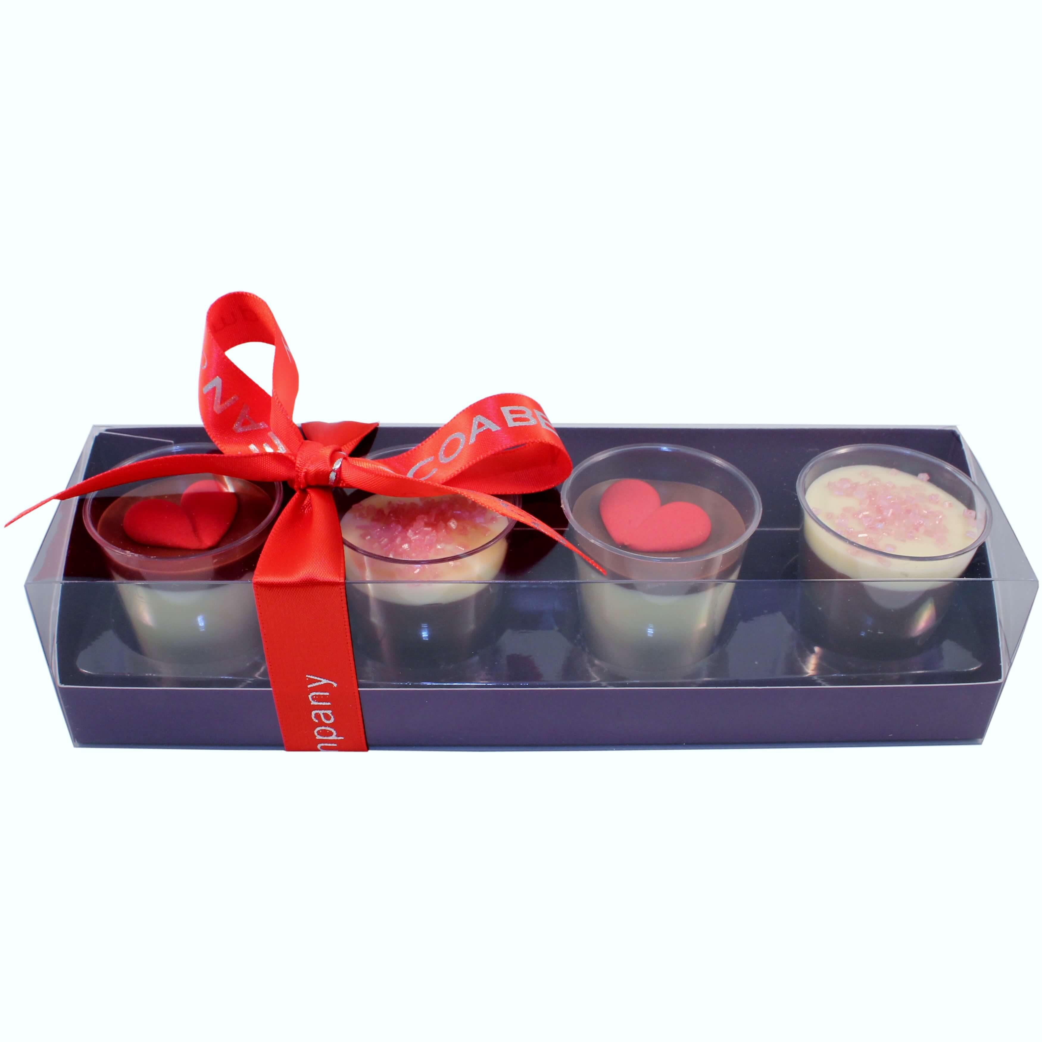 valentines choc shot glasses