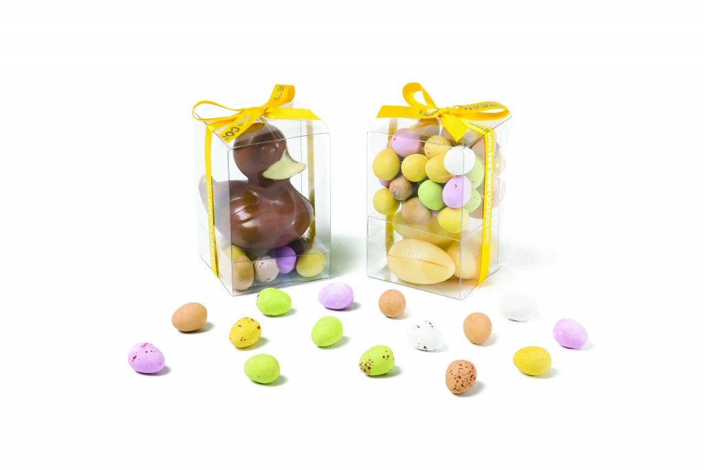 easter gift cubes with mini eggs