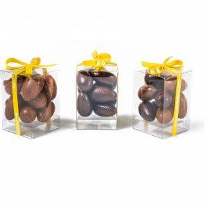 mini chcolate eggs in a gift box