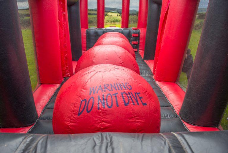 big red balls inflatables