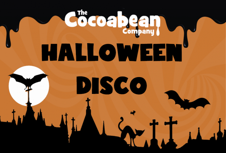 orange and black halloween disco image