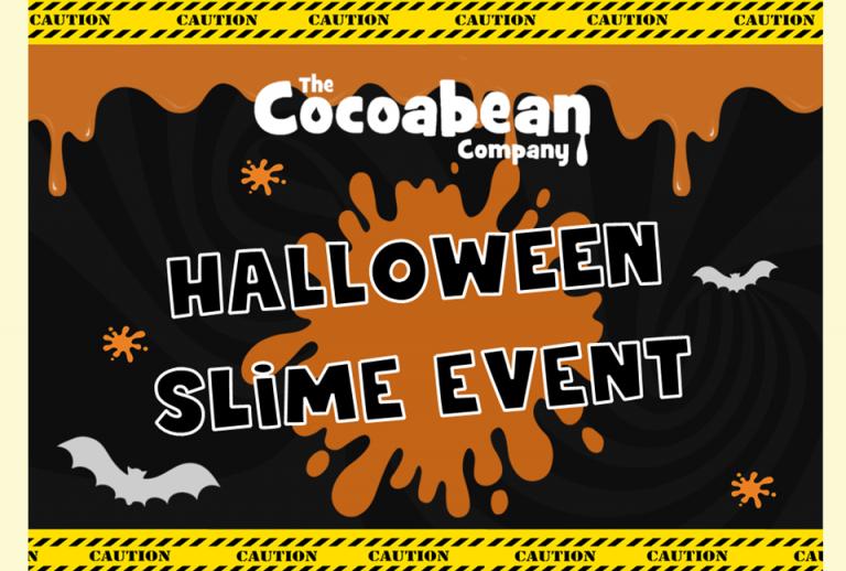 halloween slime event poster