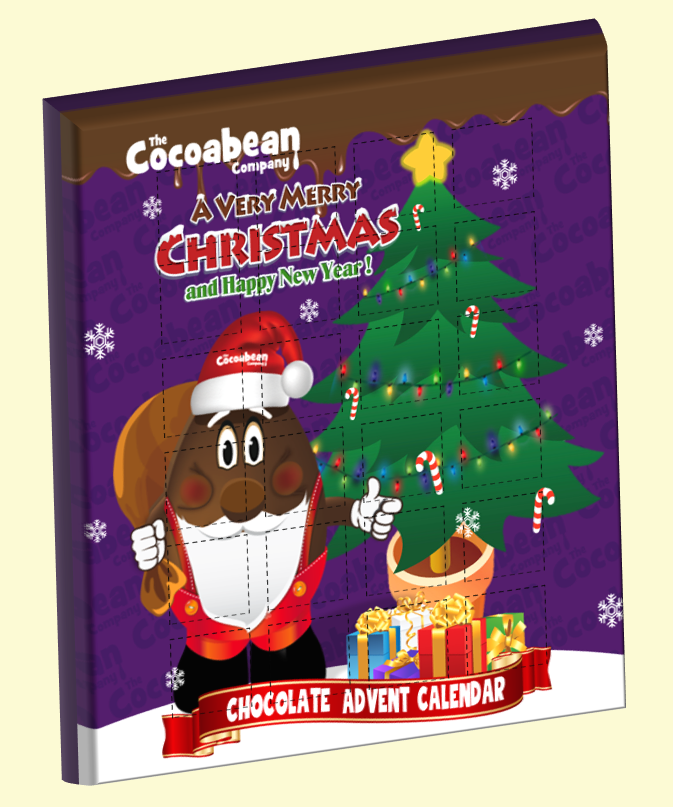 cocoabean company chocolate advent calendar 3D image