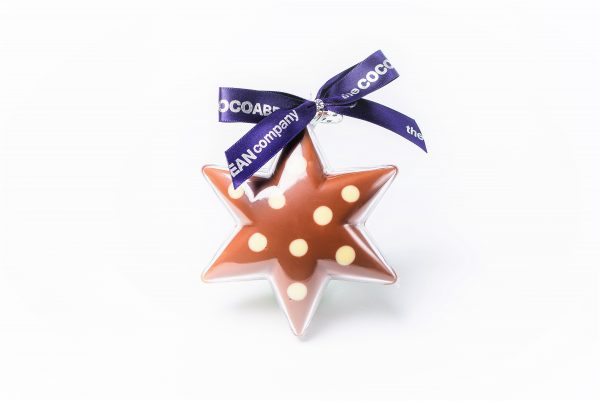 chocolate filled star shape