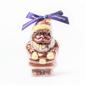 chocolate filled santa shape