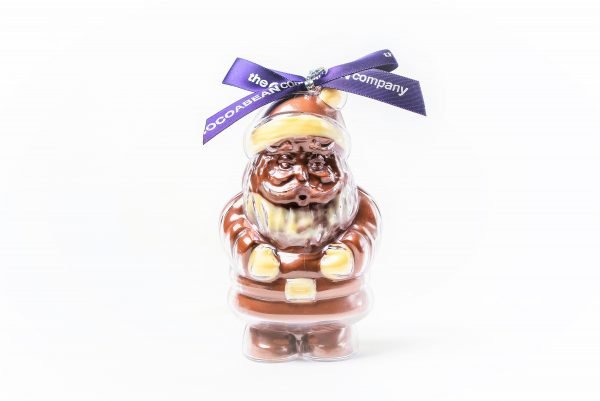 chocolate filled santa shape