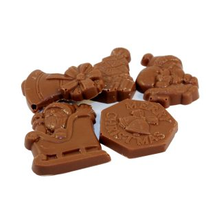 milk chocolate christmas shapes