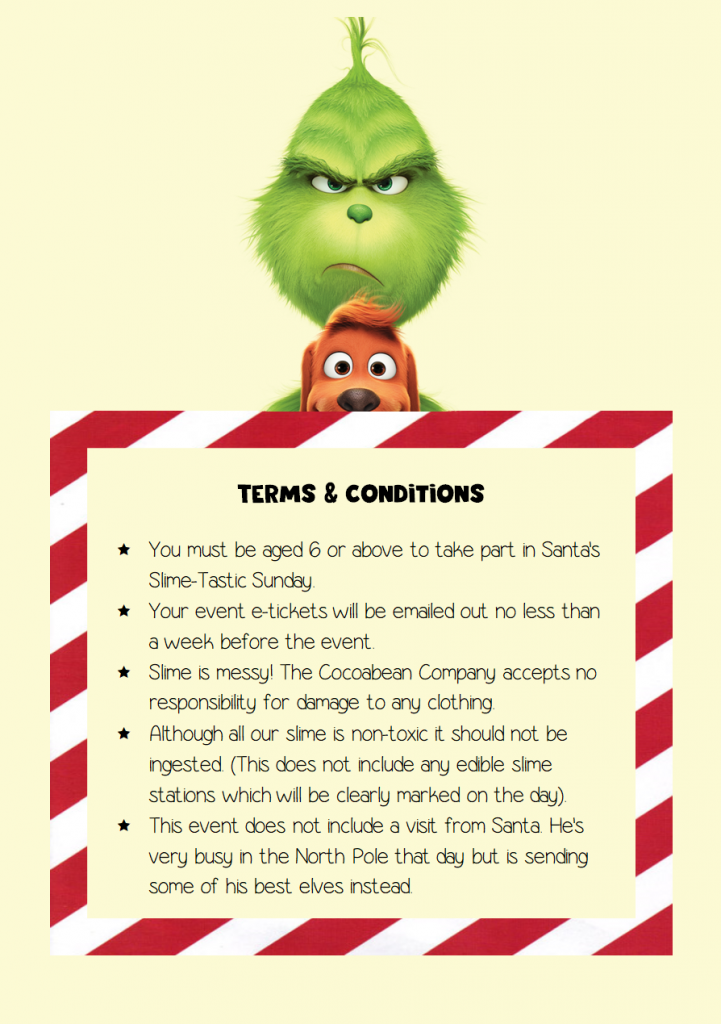 grinch, max and text in candy cane border