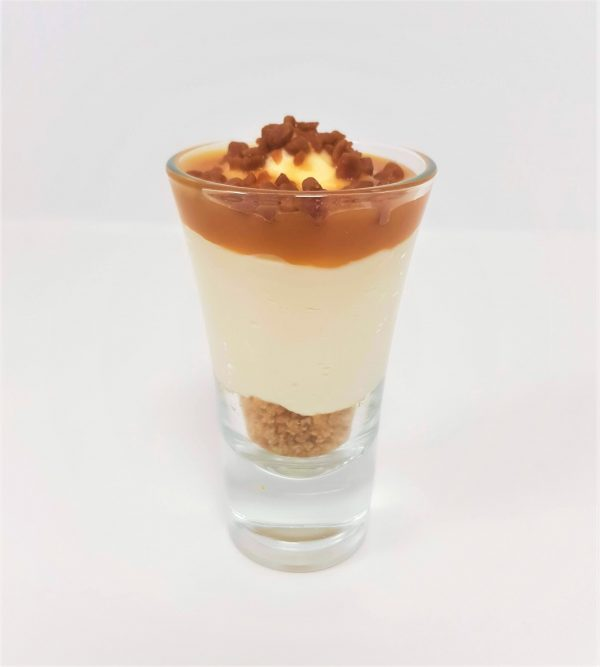 toffee cheesecake shot glass