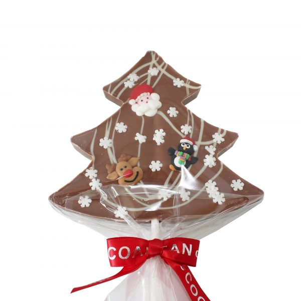 milk choc tree shaped lollipop