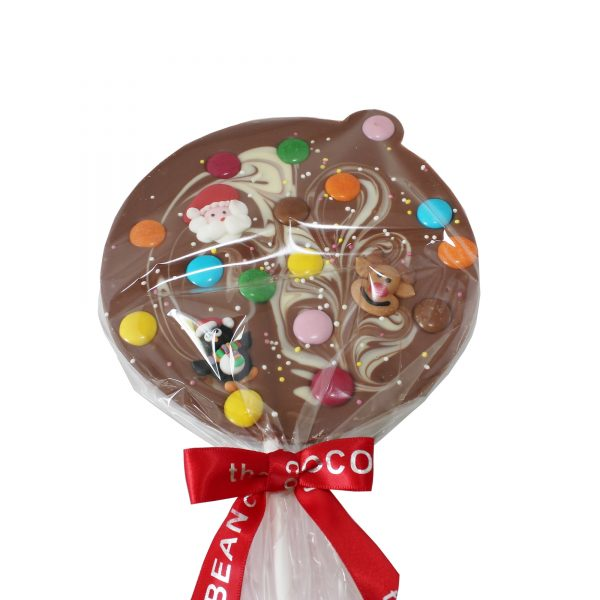 milk choc bauble lollipop