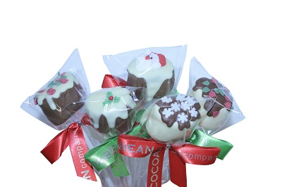 small christmas mallow pops