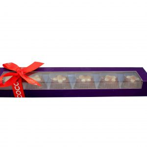 mince pie chocolate in a purple box
