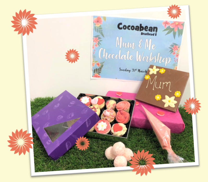 image of chocolates in a box and mum slab