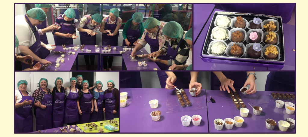 collage of adult truffle making workshop