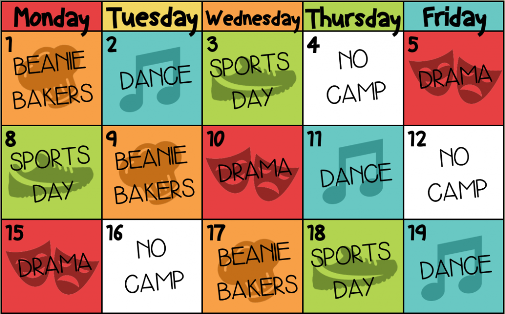cocoabean summer camp timetable