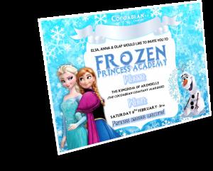 3D frozen invitation