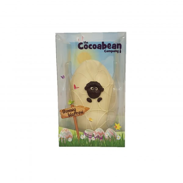 white chocolate sheep easter egg cocoabean company