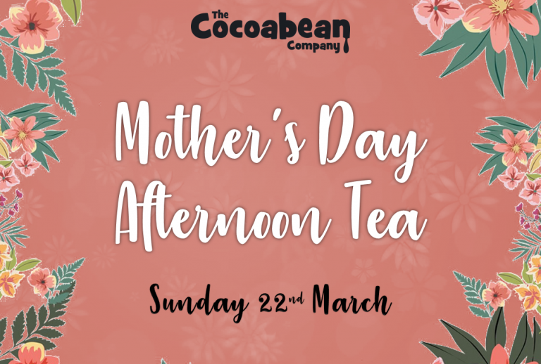 peach background mothers day afternoon tea