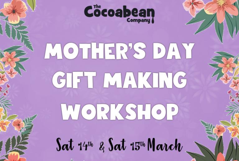 purple background mother's day workshop