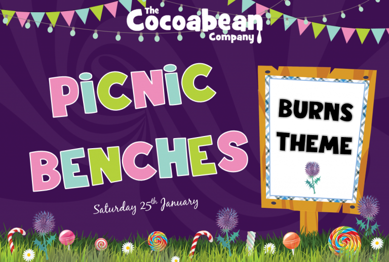 cocoabean picnic bench burns theme