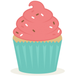 cute pink and blue cupcake