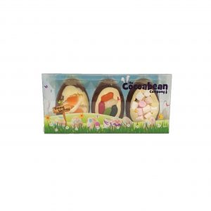 trio of milk chocolate easter eggs with sweet inclusions coocabean