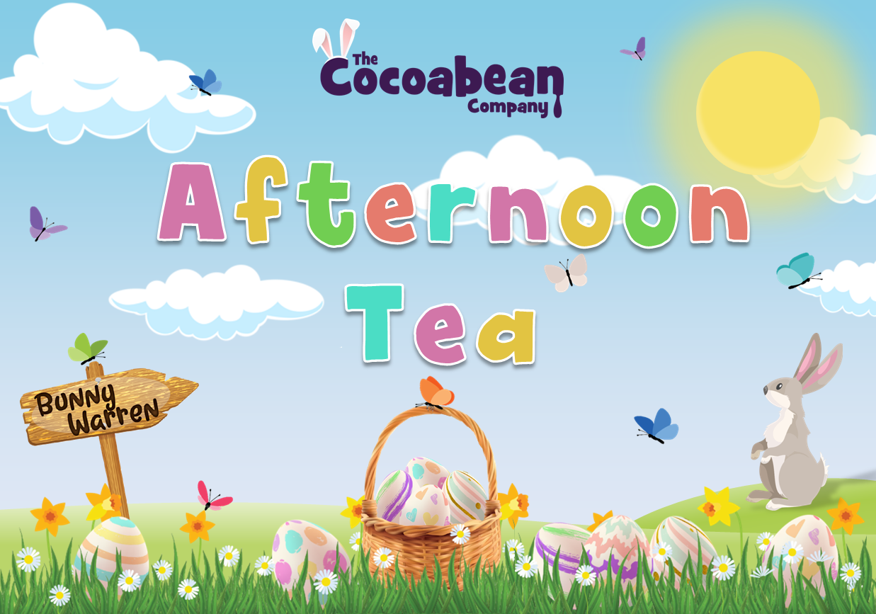 spring themed scene afternoon tea with butterfly decorations