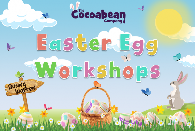 spring themed scene easter egg workshops with butterfly decorations