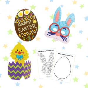 easter egg activity kit for children