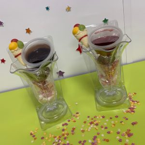 two ice cream sundae kits