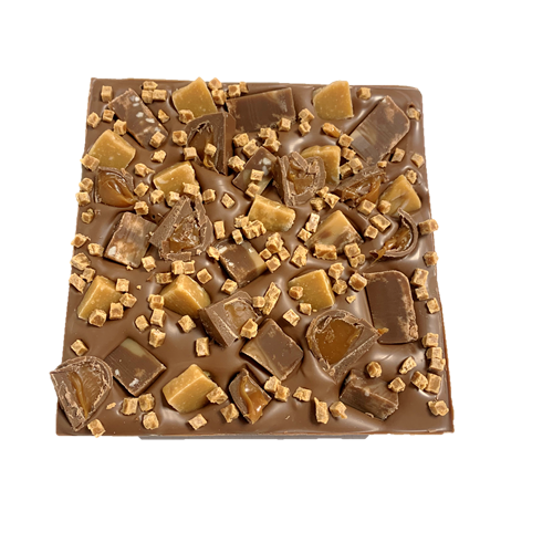 fudge & caramel chunky chocolate slab cocoabean