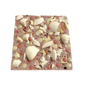 pink chocolate eton mess slab cocoabean