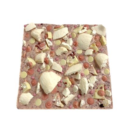 pink chocolate eton mess slab cocoabean