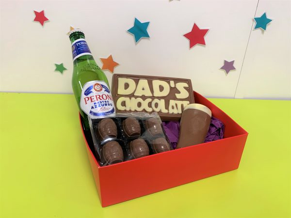 beer themed chocolate gift hamper father;s day cocoabean