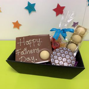 father's day football chocolate hamper cocoabean