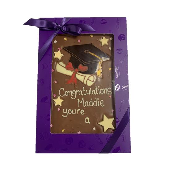 chocolate graduation slab cocoabean
