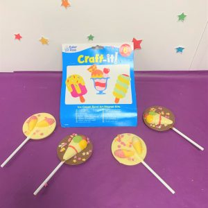 sand art ice cream and lollipops