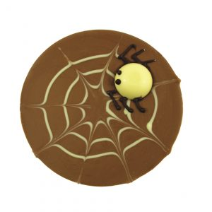 milk chocolate spider web with spider